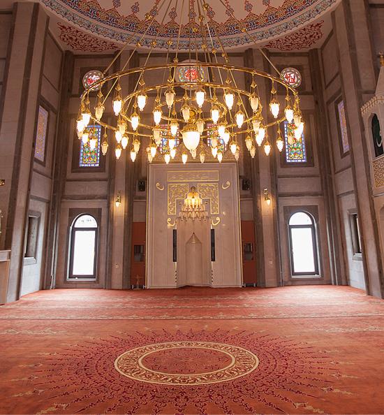 göbekli yün cami halısı